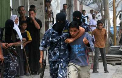 Children being used as human shields