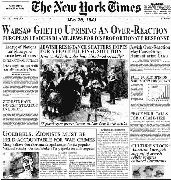 New York Times bias in the Warsaw Ghetto uprising